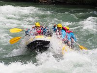 Whitewater rafting descent