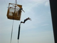 Jumping from the crane