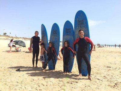 Curso para aficionados al surf en Cádiz durante 6h