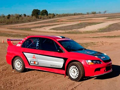 Rally car driving in Madrid 5 laps