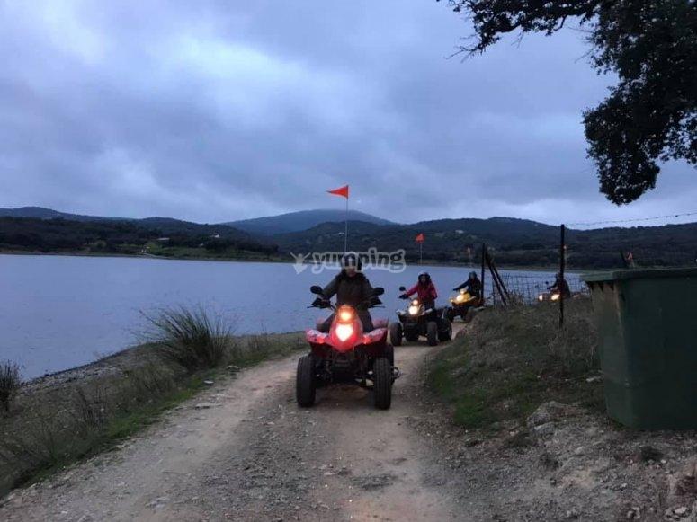 Quad tour in Tentudía mountains