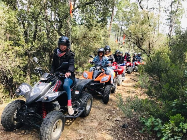 Riding the quad in Tentudía