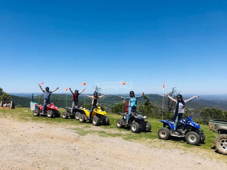 Group trip by quad in Tentudía