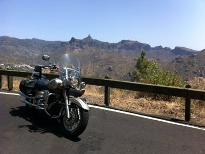Custome Motorbike Ride Tenerife 7 Hours