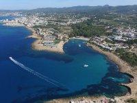 Vedute di Ibiza dall'alto
