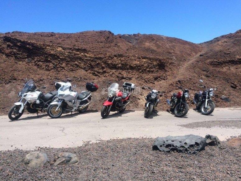 Motociclette di diversi modelli