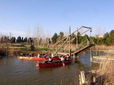 Canoa por el Ebro y Parque natural para niños 1 h