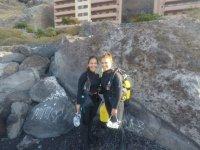 Buceo desde la costa de Tenerife