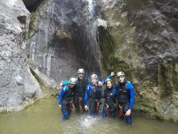 Group of canyonists