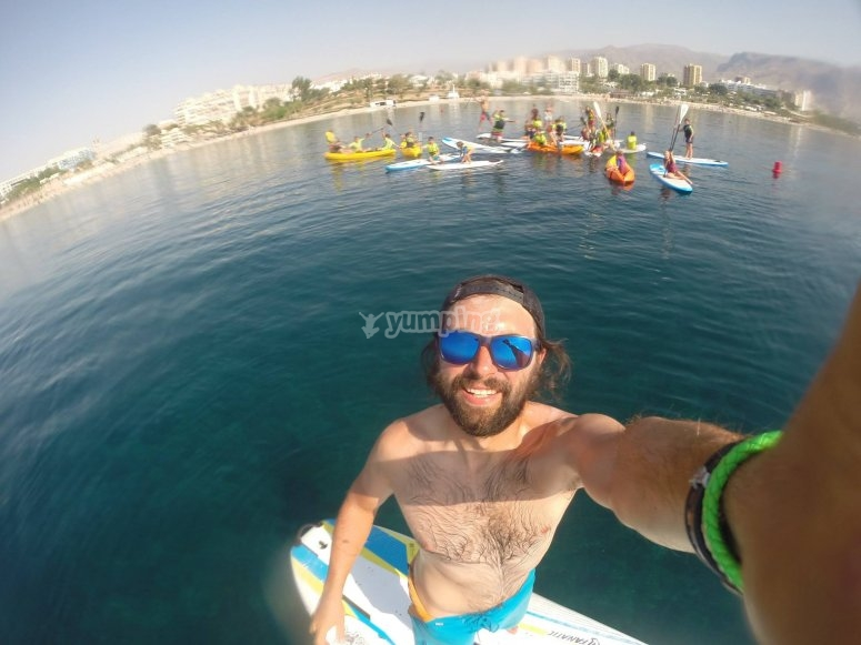 Travesía en Almería de paddle surf