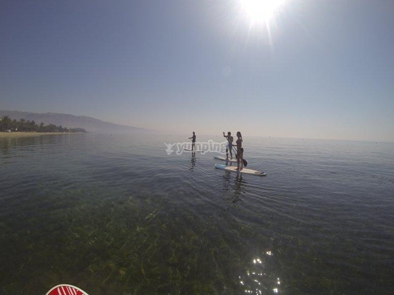 Excursión SUP en Roquetas de Mar