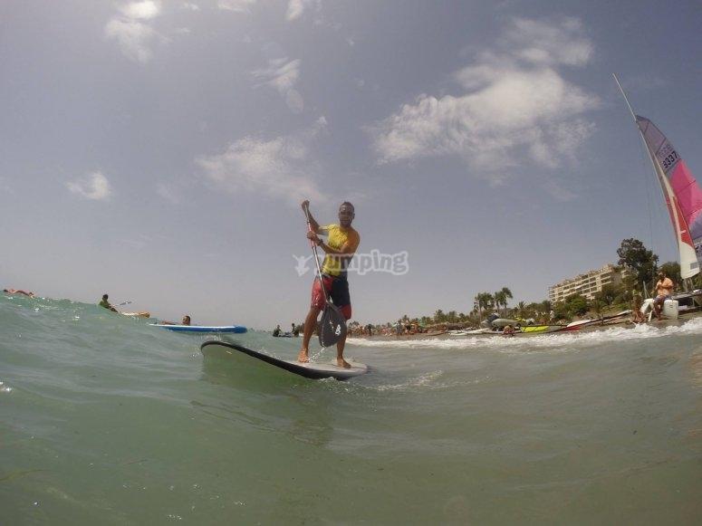 Paddle surf en Roquetas de Mar