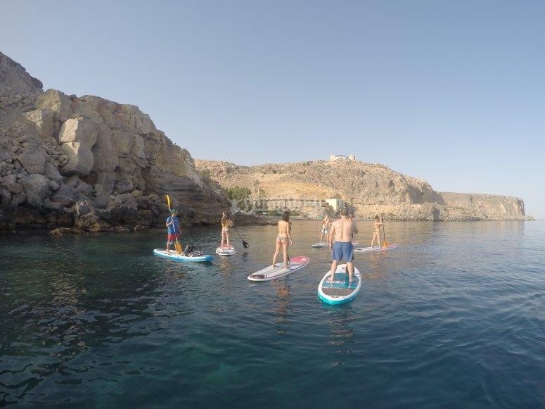 Travesía de SUP en Almería