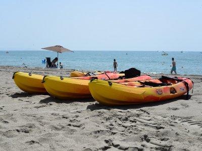 Navegar en Kayak en Roquetas de Mar 1 hora