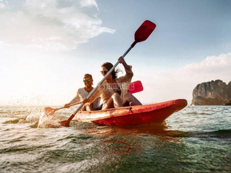 Salida en kayak en pareja