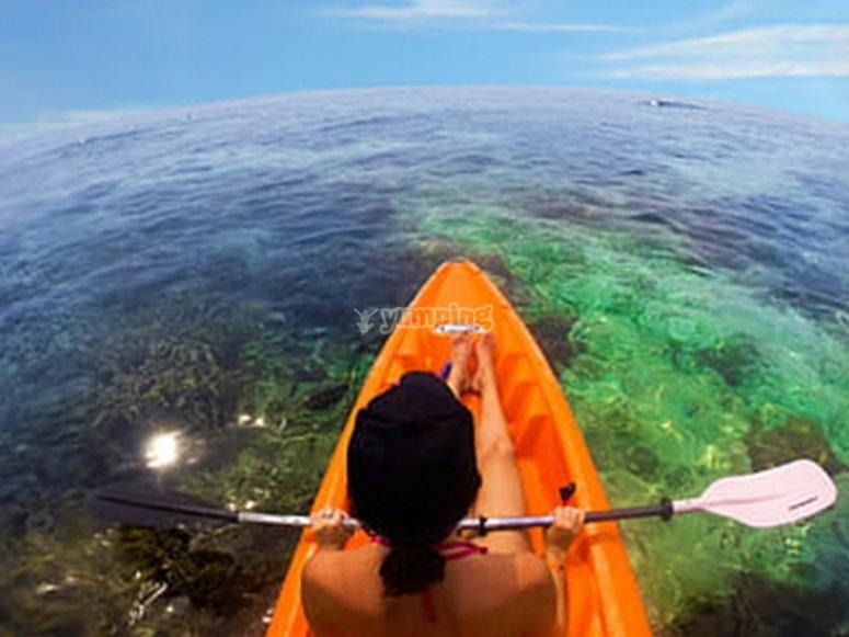 Conociendo Roquetas de Mar en kayak