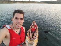 Family ride in Kayaks