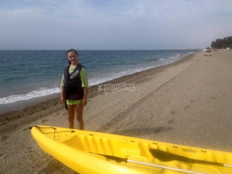Canoe rental in Playa Serena