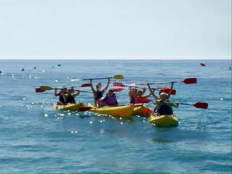 Navigating by kayak