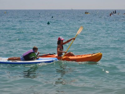 Two-seater canoe rental Roquetas de Mar 2h