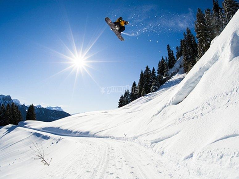 Clases particulares de snowboard