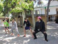 manreana标志学习到营地跳舞