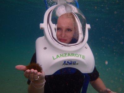 Buceo con escafandra en Lanzarote