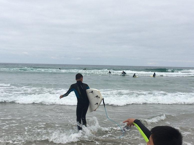 Correre per imparare in mare