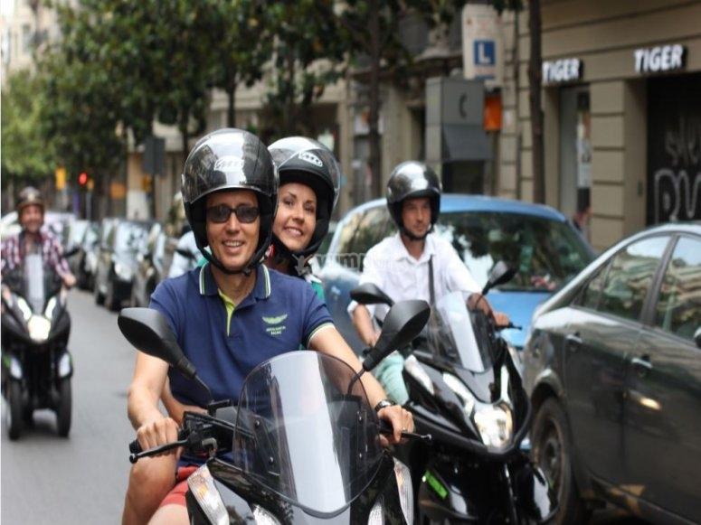 穿过巴塞罗那的街道