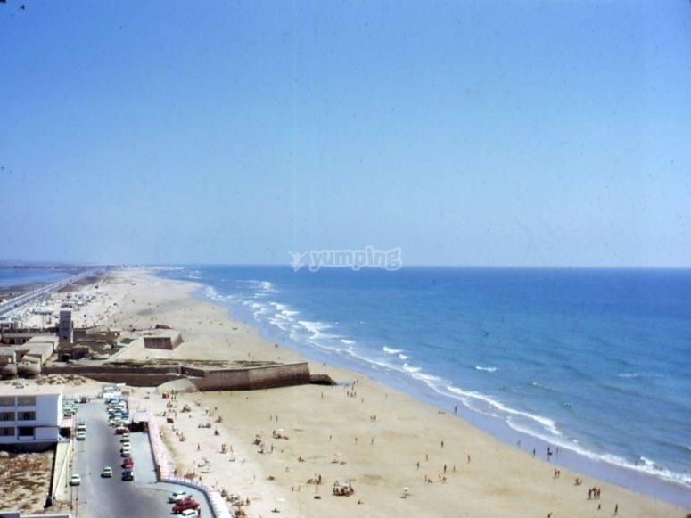 En las playas de Cadiz