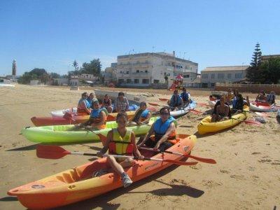 Kayak doble para pasear en playas de Cádiz