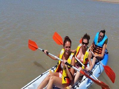 Paseo en kayak triple en Cádiz durante 1 hora