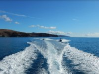 Tomando velocidad en los jetski