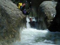 Sant Pere峡谷的下降,开始