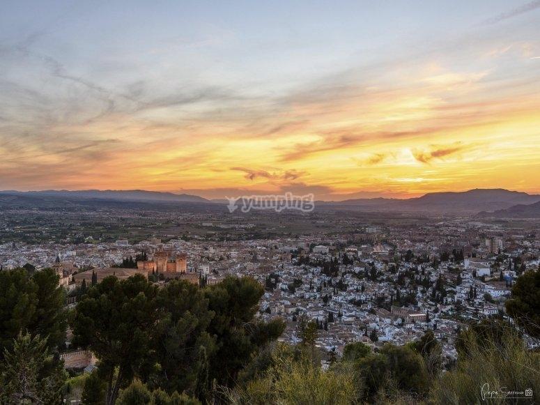 Paratrike flight in Alhambra