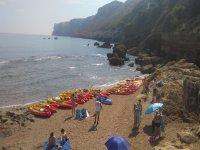 Excursión en canoa para niños en Cova Tallada