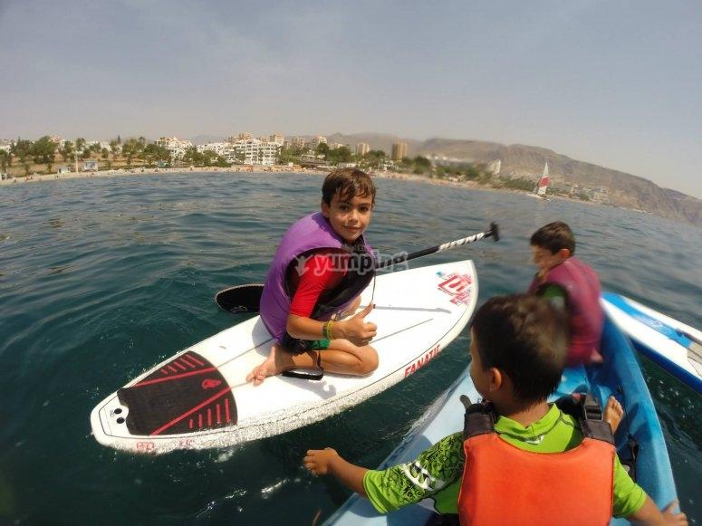 Salida con las tablas de paddle surf