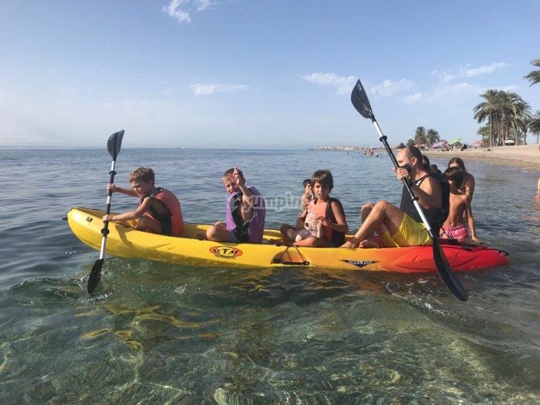 Ruta en kayak por Roquetas de Mar