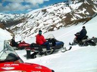 Group of snowmmobiles