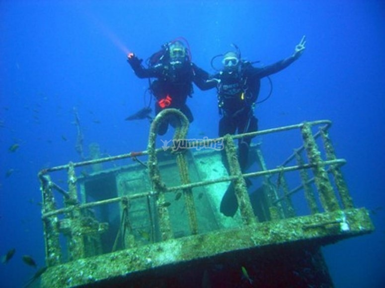 监视器和潜水材料