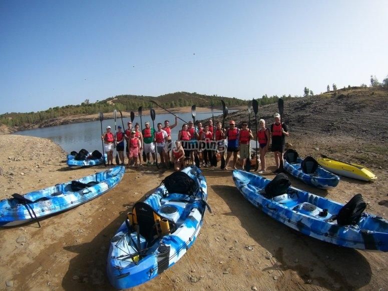 Kayaks individuales, dobles o triples
