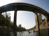 Company kayaking event