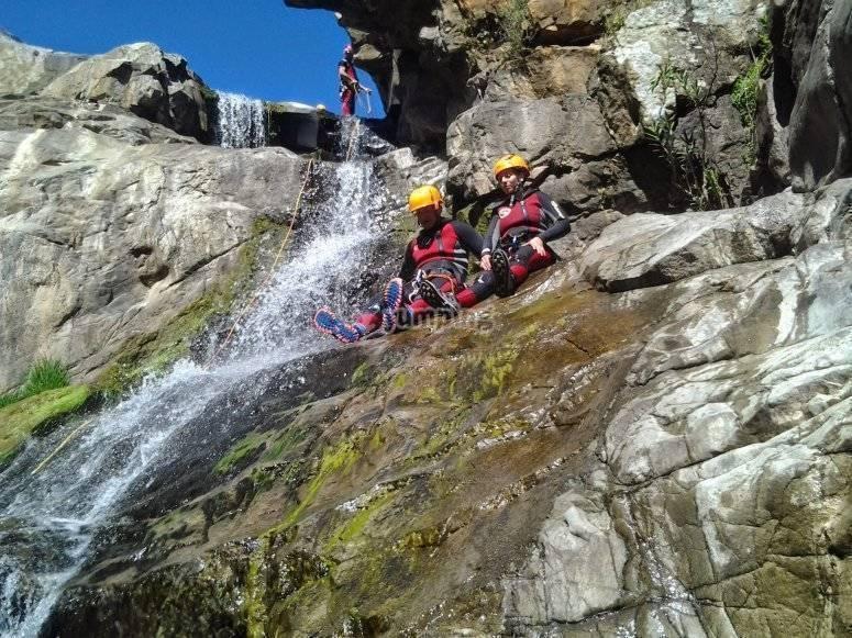 Descendiendo por las cascada