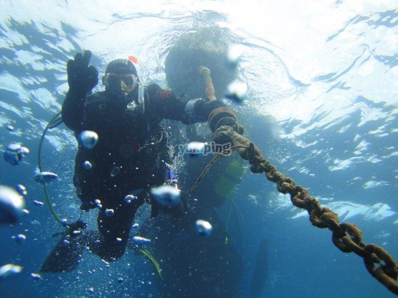 Día de submarinismo en Teguise
