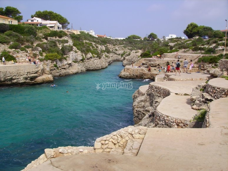 Menorca beaches with turquoise waters