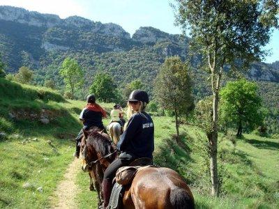 Paseo a caballo por los alrededores Barcelona 2h