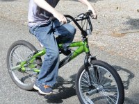 Una ruta ciclista infantil