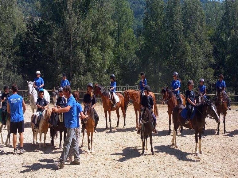 Con los monitores de equitacion