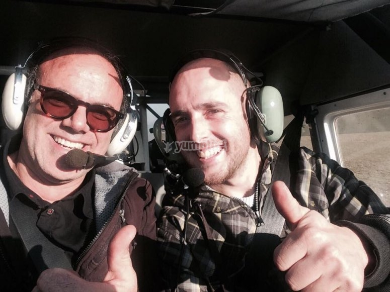 With an expert and qualified pilot