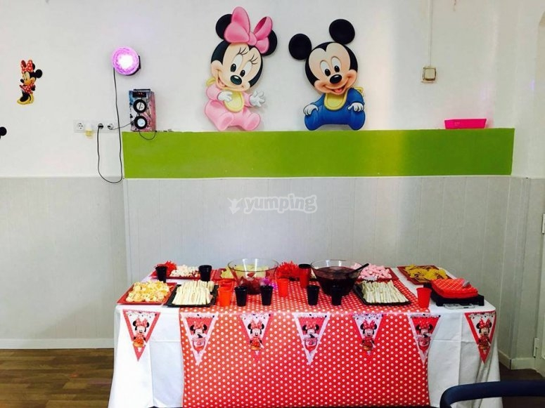 Birthday party for kids in a property